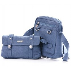 Bag shoulder woman canvas - 2 in 1