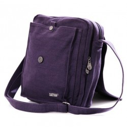 Man woman A4 with flap shoulder bag