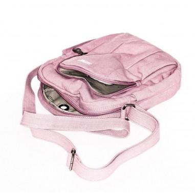 Mochila bandolera rosa