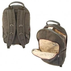 PC backpack portable organic cotton / hemp