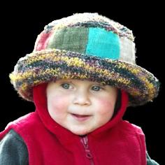 Niño chica chico sombrero - 100% de cáñamo