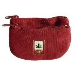Wallet hemp leaf effigy - Pure