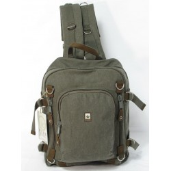 Man woman canvas backpack