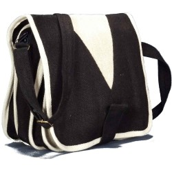 Pure hemp shoulder bag woman