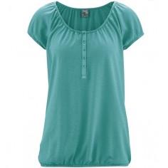 Decoletee blusa, botones y elástico en los bordes