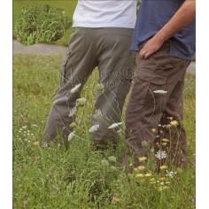 Pantalones de carga de cáñamo de algodón Bio