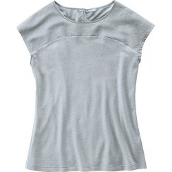 Top chanvre/soie gris XL