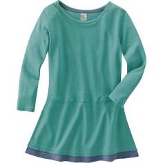Donna t-shirt in cotone bio di lunga