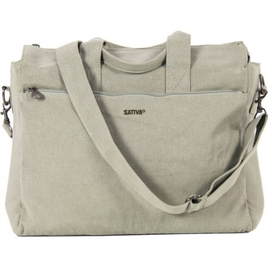 PC shoulder strap bag / hand in canvas