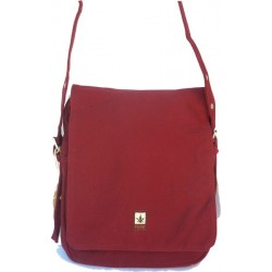 Shoulder bag with flap and zipper