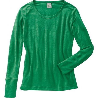 Green woman clothing