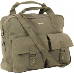 Large messenger bag hemp canvas and organic cotton
