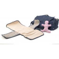 Changing nursery hemp canvas satchel bag