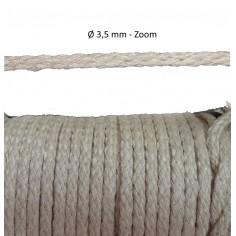 Cordon lacet tressé 2,2 mm 3,5 et 5 mm