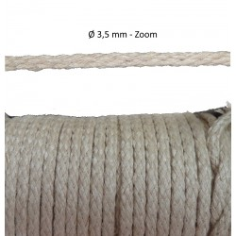 Encaje cordón trenzado 2,2 mm 3,5 mm y 5