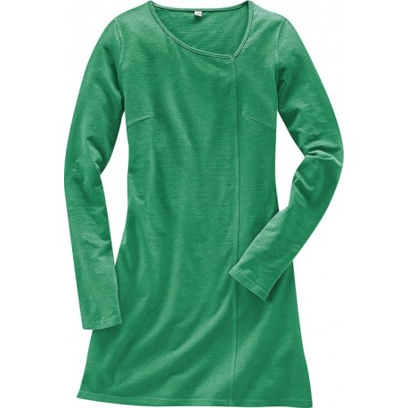 Green woman tunic dress
