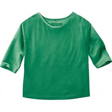 manches trois quart vert