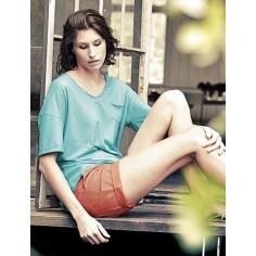 Short femme coton bio et chanvre