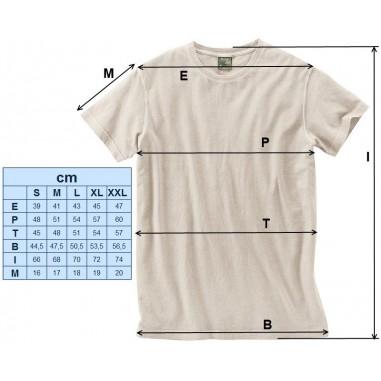 Tee shirt fin coton bio / chanvre 130 Gr/m²