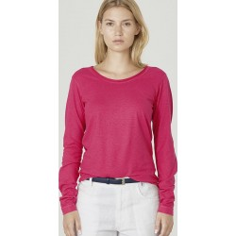 Shirt Frauen Langarm Phantasie gerollt Kragen