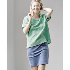 Bluse Seide Hanf und Bio-Baumwolle
