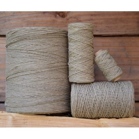 1 mm waxed - hemp twine