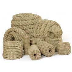 Echantillons de corde 3 torons - 100% chanvre