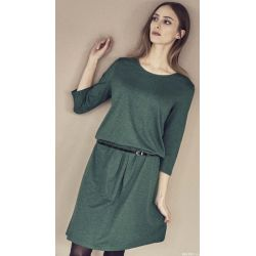 Elegantes Kleid, montiert an der Taille, Baumwolle Bio Hanf