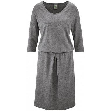 Elégante robe cintée à la taille, coton bio chanvre