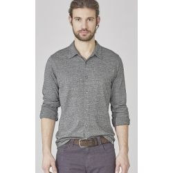 Hemp and organic cotton jersey shirt