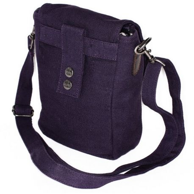 Canvas hemp and leather man bag