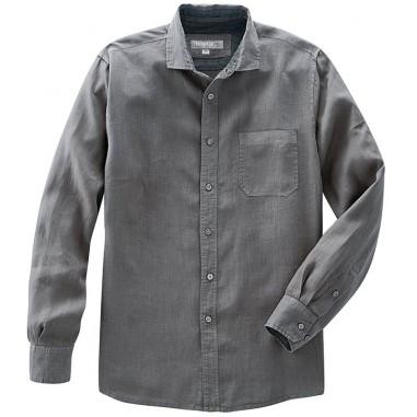 Canapa puro molto sottile camicia - tasca sul petto