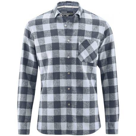 Canapa e cotone biologico Plaid Shirt