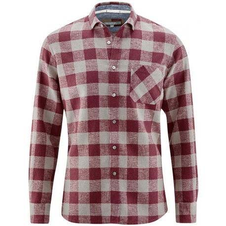 Canapa e cotone biologico Plaid Shirt