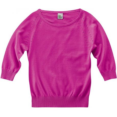 Manches3/4 hemp and organic cotton fancy sweater