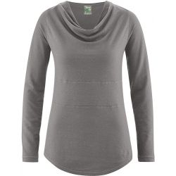 Hemp and organic cotton cowl neck tunic