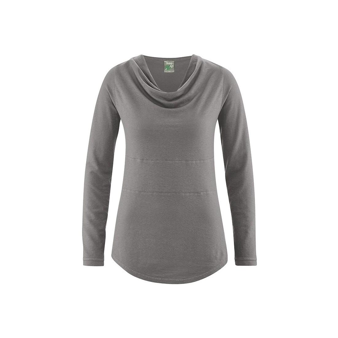 nuova collezione a897d 4331d Colletto della camicia drappeggiata - Canapa Cotone Biologico