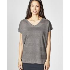 Pure Hanf-t-Shirt mit V-Ausschnitt