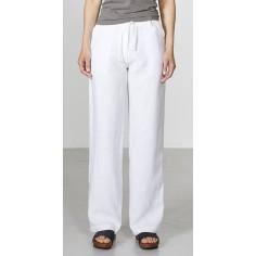 Pantalon large pur chanvre femme
