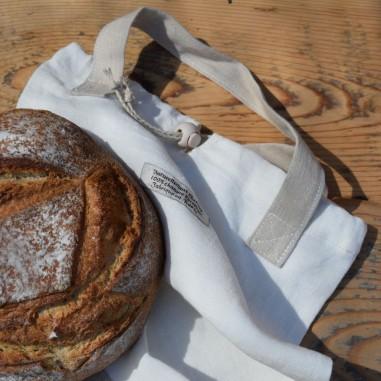 Bread in hemp bag