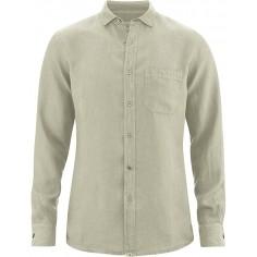 Molto sottile camicia pura canapa - tasca sul petto
