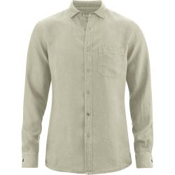 Very thin pure hemp shirt - chest pocket