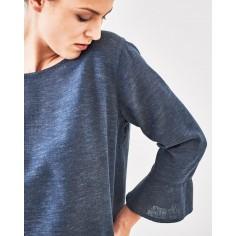 Bluse Ärmel zu Kugeln Hanf Bio-Baumwolle