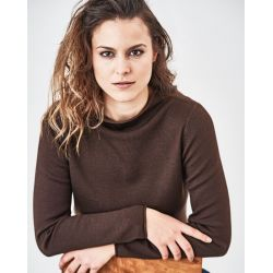 Pullover sweater in wool, organic cotton and hemp