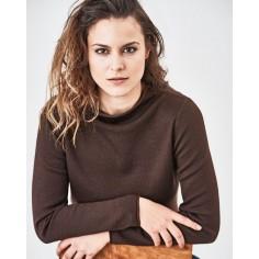 Pull col rouloté en laine, coton bio chanvre