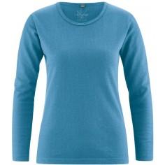 T-shirt collar round organic cotton hemp