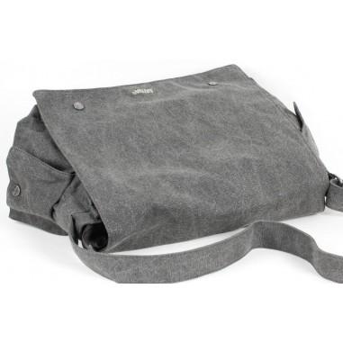 Big organic canvas satchel