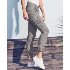 Pantalones pocket del cargo mujeres - algodón orgánico 8cda6687b644