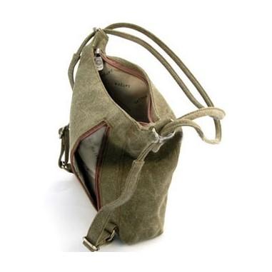 Woman original canvas shoulder bag