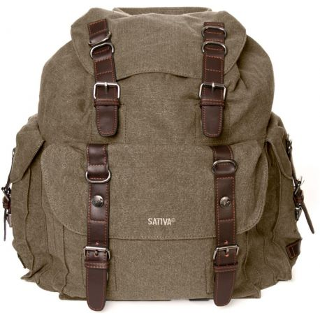Large backpack - Hemp and organic cotton
